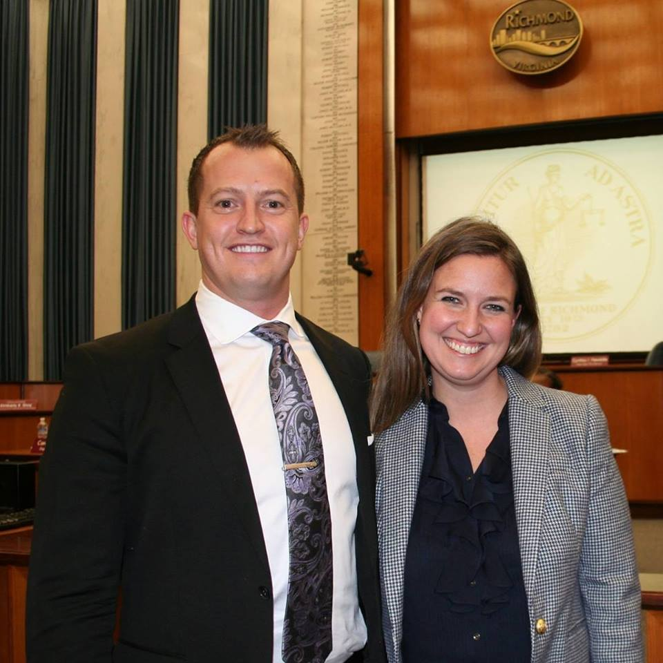 Councilman Andreas Addison and School Board Representative Elizabeth Doerr