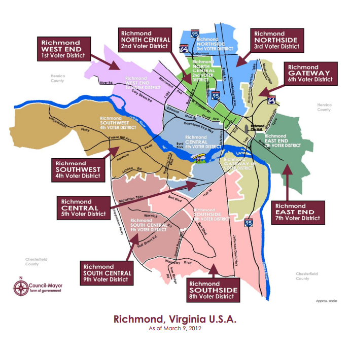 RVA Districts Map